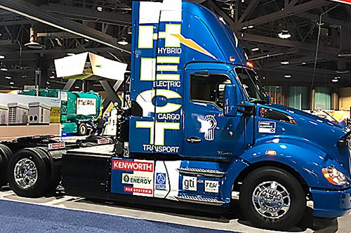 Near Zero Kenworth Hybrid CNG/Battery Electric