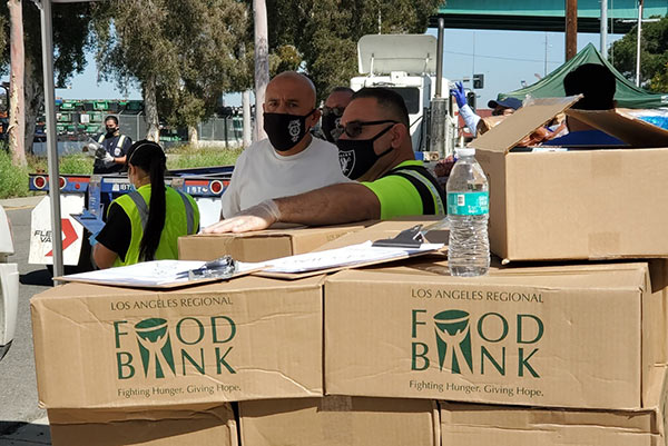 Boxes of Food Bank distributions