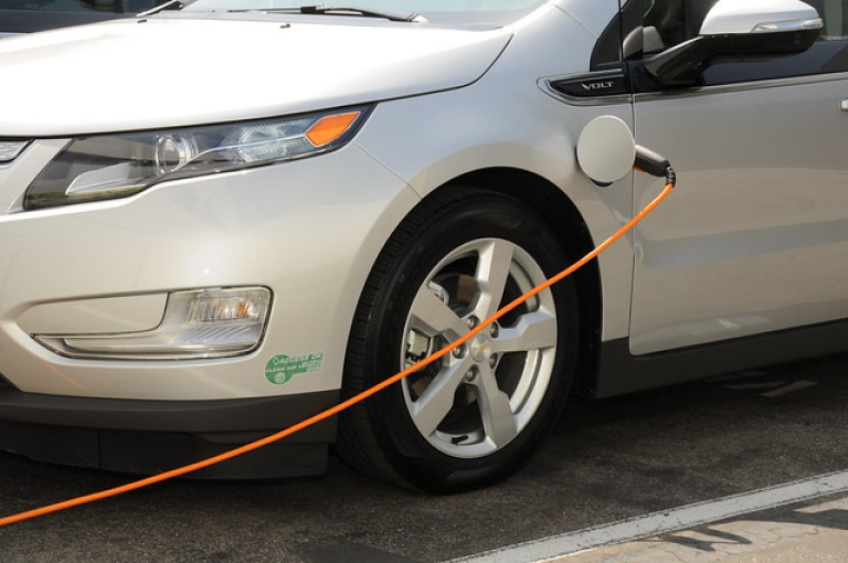 Electric Vehicle Charging in TTSI parking lot