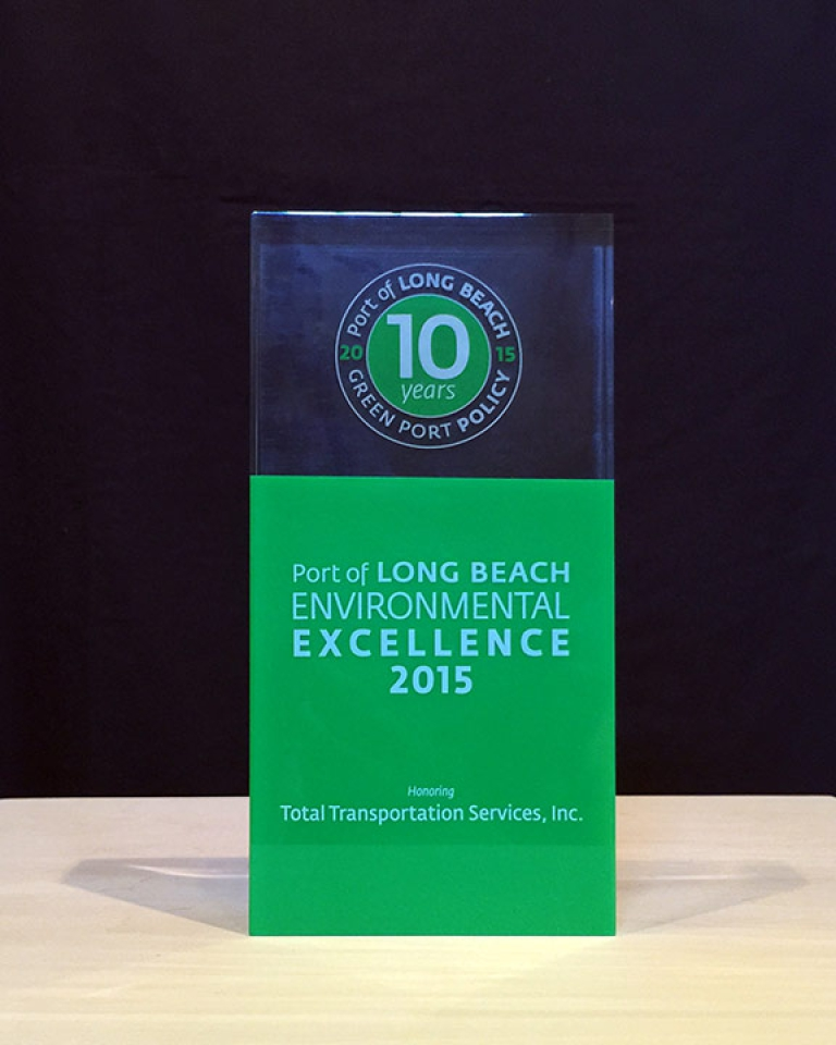 Port of Long Beach Green Port Program honors TTSI for its 10 years of Environmental Excellence in 2015.